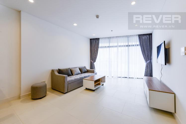 Phòng khách Cho thuê căn hộ City Garden 1PN, tầng cao, đầy đủ nội thất