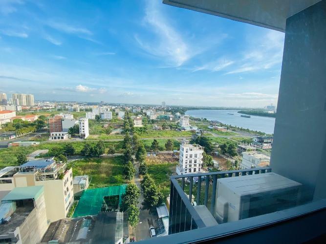 Ban công căn hộ One Verandah, Quận 2 Căn hộ One Verandah tầng 12 view thành phố, view sông thoáng mát.
