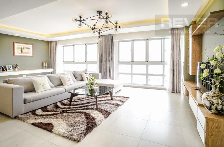 Phòng Khách Bán căn hộ Happy Valley 3PN, tầng thấp, đầy đủ nội thất, view trực diện sông