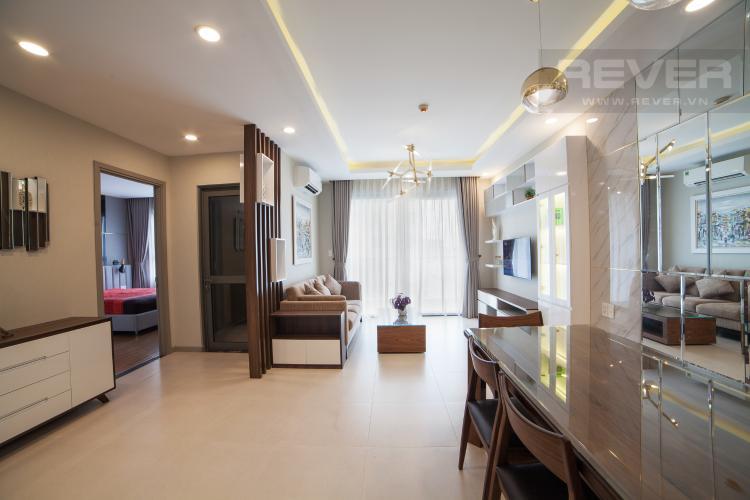Phòng khách Căn hộ The Gold View 2 phòng ngủ tầng trung A2 hướng Đông Nam