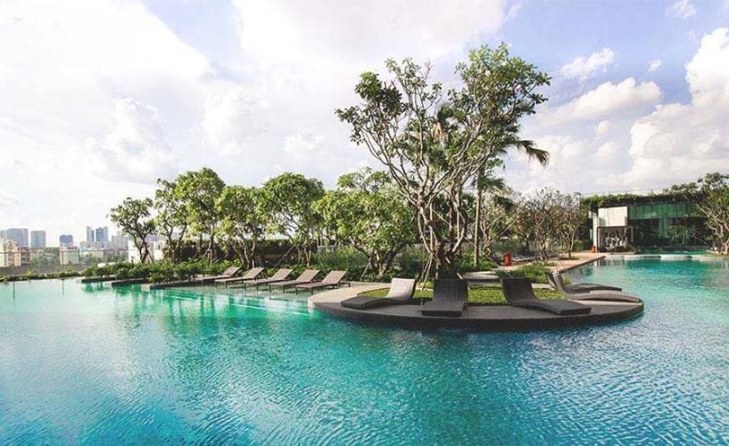 Hồ Bơi Bán căn hộ duplex Vista Verde 3PN, tháp Orchid, diện tích 119m2, bàn giao nhà thô