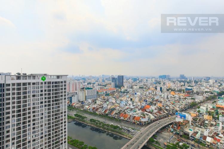 View Cho thuê căn hộ Masteri Millennium tầng cao 2PN view sông