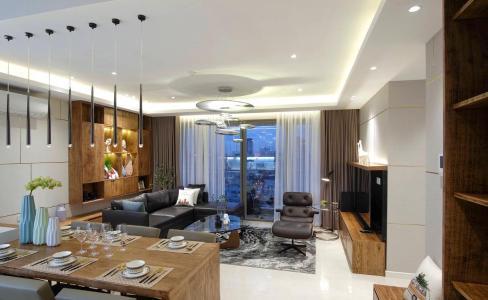 Bán căn hộ Masteri Millennium 3PN, diện tích 107m2, đầy đủ nội thất, view kênh Bến Nghé và thành phố