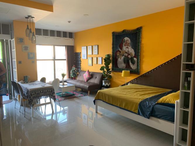 Phòng ngủ căn hộ SAIGON ROYAL Cho thuê căn hộ Saigon Royal 1 phòng ngủ, tầng thấp, diện tích 43m2, đầy đủ nội thất