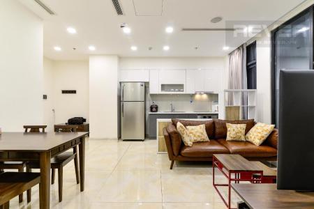 Cho thuê căn hộ Vinhomes Golden River 2PN, tháp The Aqua 3, đầy đủ nội thất, view thành phố rộng thoáng