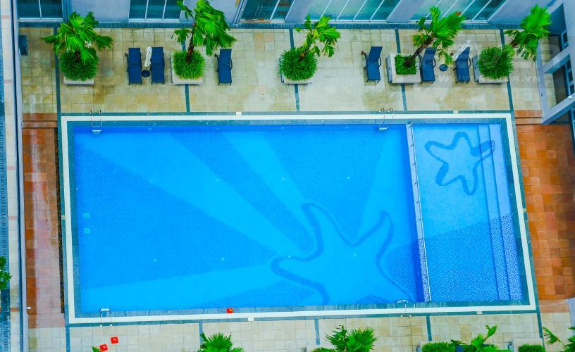 View Căn hộ Star Hill Phú Mỹ Hưng tầng trung, tháp B, 3 phòng ngủ, view hồ bơi.