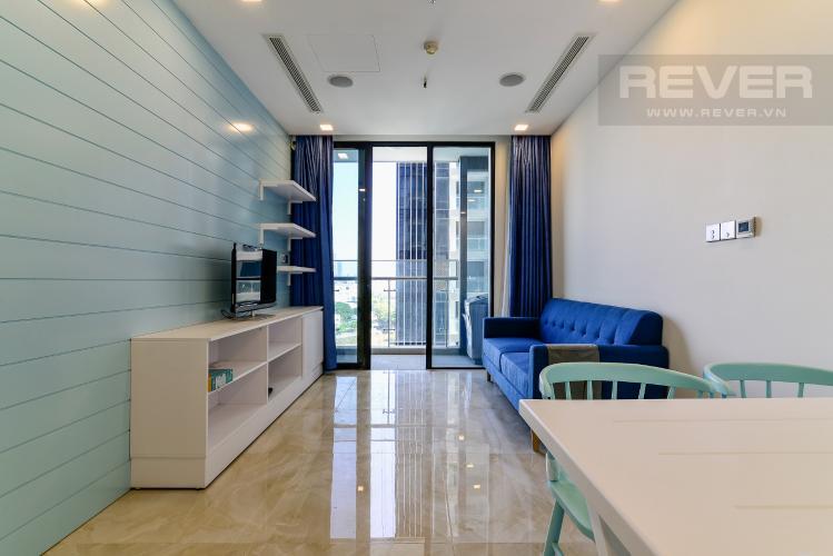 Phòng Khách Căn hộ Vinhomes Golden River tầng thấp,1PN đầy đủ nội thất