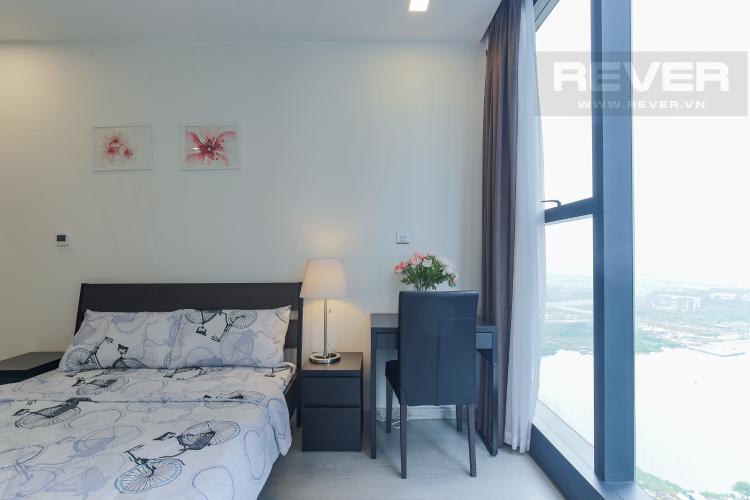 Phòng Ngủ Bán căn hộ Officetel Vinhomes Golden River 1PN, đầy đủ nội thất, view sông Sài Gòn