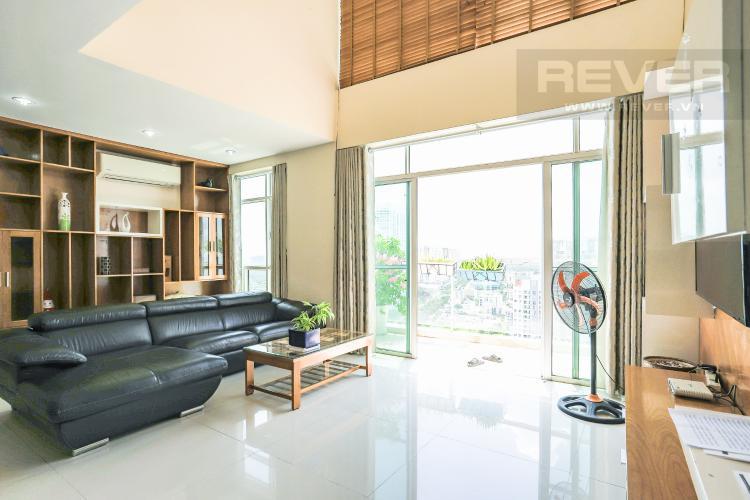Phòng Khách Bán penthouse New Sài Gòn 4PN, đầy đủ nội thất, view đẹp