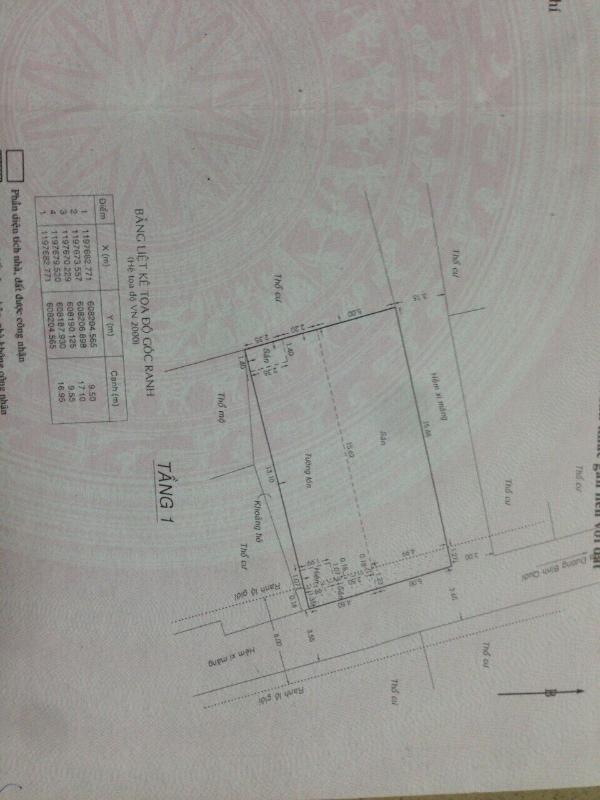 sd Bán nhà phố đường Bình Quới, Q, Bình Thạnh, 4 phòng ngủ, diện tích 162m2, có sân vườn