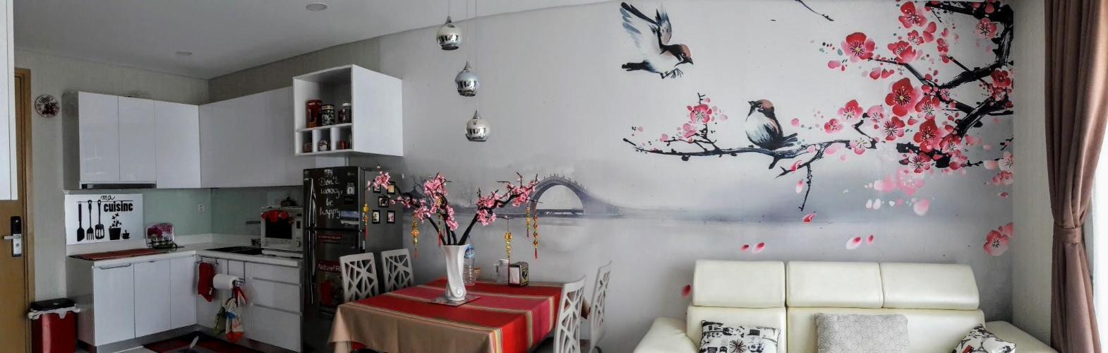 Phòng khách căn hộ AN GIA RIVERSIDE Bán căn hộ An Gia Riverside đầy đủ nội thất tiện nghi.