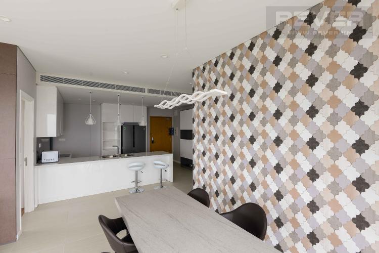 Phòng Khách Cho thuê căn hộ Diamond Island - Đảo Kim Cương 3PN, tầng trung, tháp Bahamas, là căn góc, đầy đủ nội thất, view sông thoáng mát