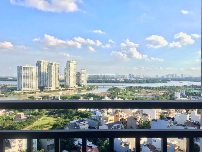 Ban công căn hộ The Sun Avenue, Quận 2 Căn hộ The Sun Avenue nội thất đầy đủ, view thành phố sầm uất.