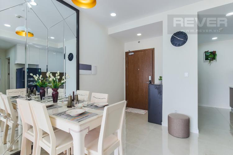 Bàn Ăn Cho thuê căn hộ Masteri Millennium Quận 4 tầng cao, 2PN, đầy đủ nội thất