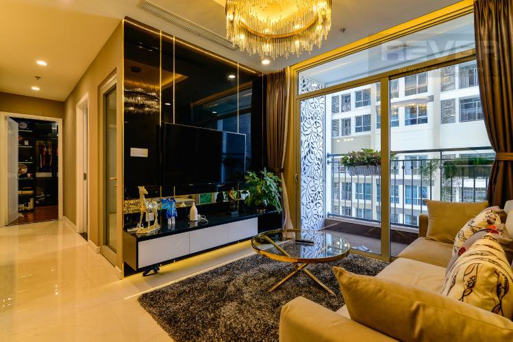 Phòng Khách Căn hộ Vinhomes Central Park tầng cao, 2PN đầy đủ nội thất