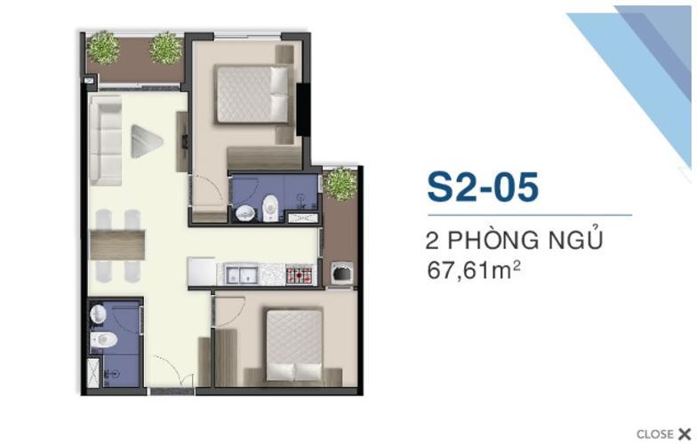 Mặt bằng nội thất Q7 Saigoon Riverside Căn hộ Q7 Saigon Riverside ban công hướng Bắc view nội khu.