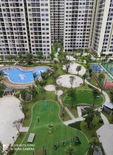 View từ căn hộ Vinhomes Grand Park Căn hộ tầng cao Vinhomes Grand Park, thiết kế hiện đại