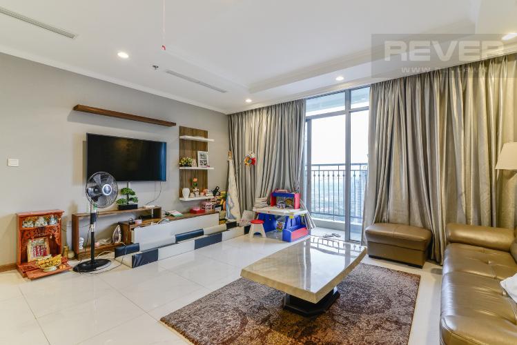 Phòng Khách Căn hộ Vinhomes Central Park 3 phòng ngủ tầng cao C3 nội thất đầy đủ