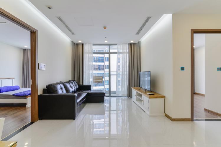 Căn hộ Vinhomes Central Park 2 phòng ngủ tầng cao P4 full nội thất