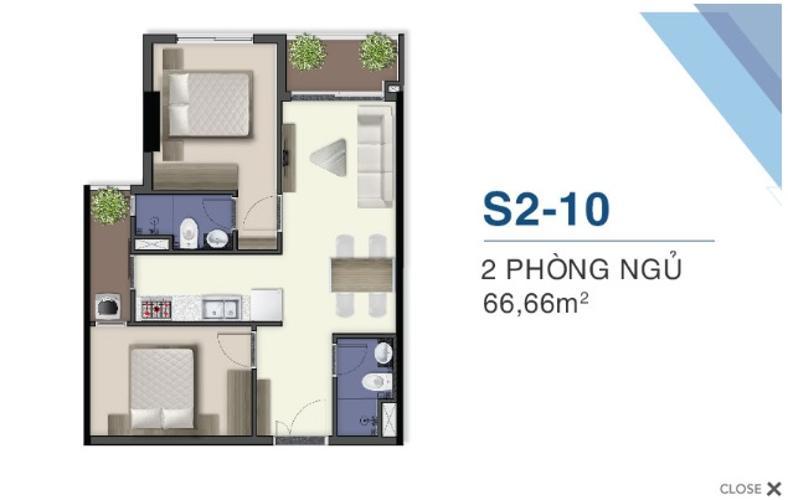 Căn hộ Q7 Saigon Riverside tầng 26, view nội khu.