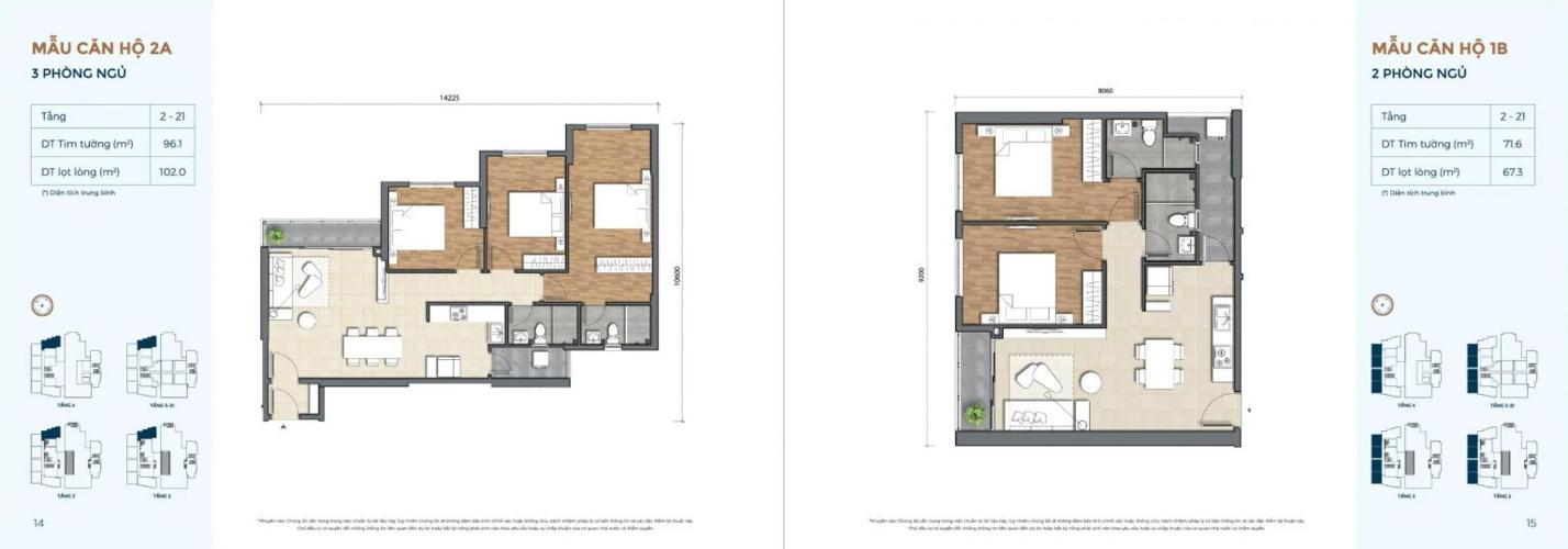 Bán căn hộ số 3 tầng trung, nội thất cơ bản dự án Precia