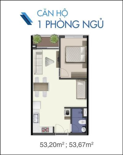 Căn hộ Q7 Saigon Riverside tầng trung, ban công hướng Nam view nội khu.
