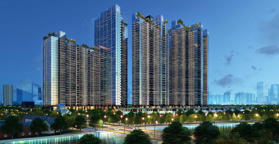 phoi-canh-sunshine-city-sai-gon Bán căn hộ Sunshine City Sài Gòn tầng cao hướng cửa Đông Bắc, diện tích  84.2m2, 2 phòng ngủ, thiết kế hiện đại.