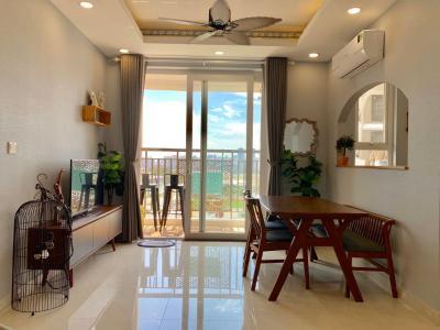 Cho thuê căn hộ Saigon Mia 2 phòng ngủ, đầy đủ nội thất, hướng Tây, view thoáng, có ban công