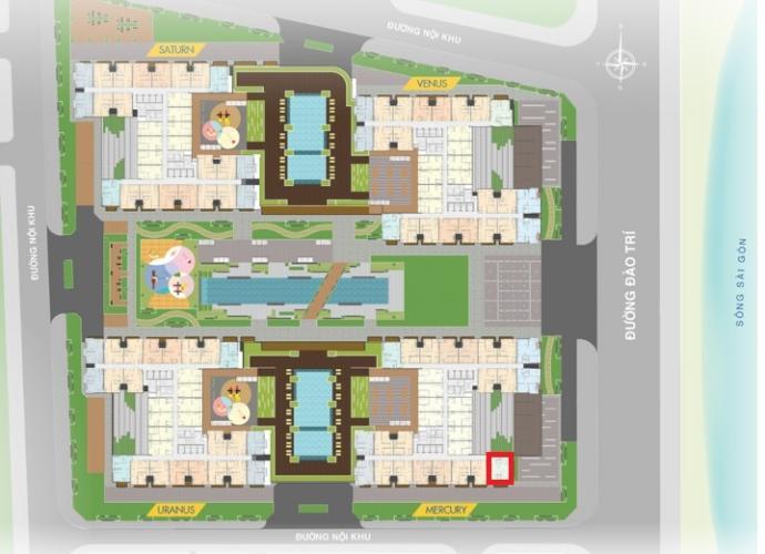 Mặt bằng căn hộ Q7 Saigon Riverside Bán căn hộ view sông Sài Gòn Q7 Saigon Riverside, nội thất cơ bản.