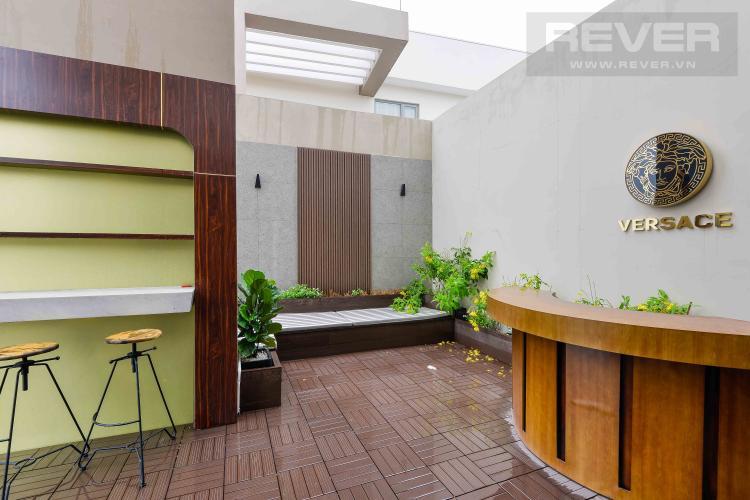 Bancony Bán penthouse Masteri Millennium 3PN, diện tích 222m2, đầy đủ nội thất, view sông và Bitexco