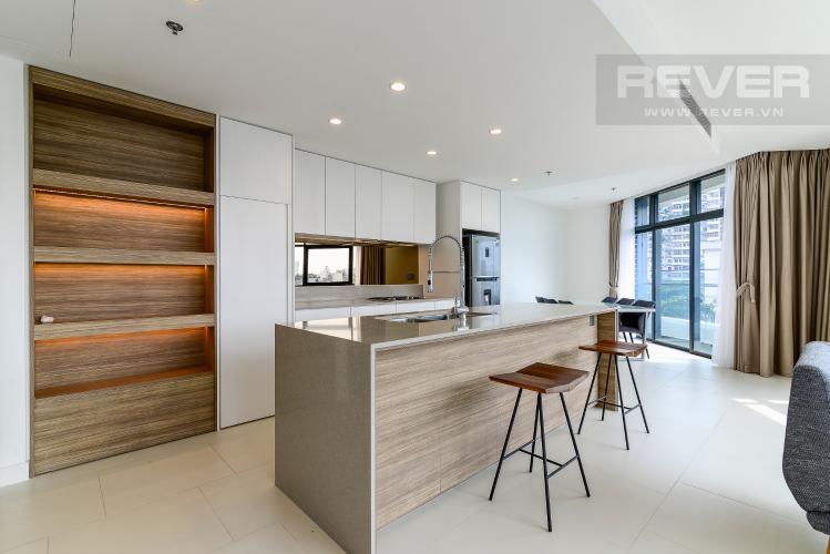 Nhà Bếp Cho thuê căn hộ City Garden tầng thấp, 3PN đầy đủ nội thất, có thể dọn vào ở ngay