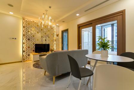 Cho thuê căn hộ Vinhomes Central Park 48m2, nội thất hạng sang, view thành phố