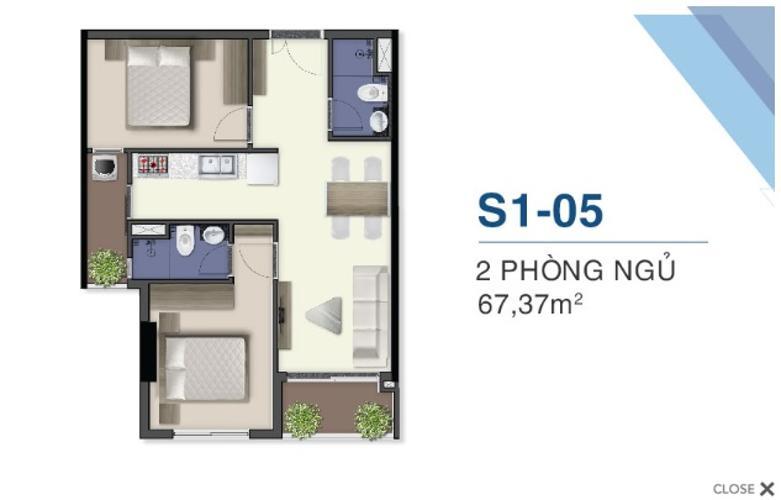 Căn hộ tầng 25 ban công hướng Nam dự án Q7 Saigon Riverside