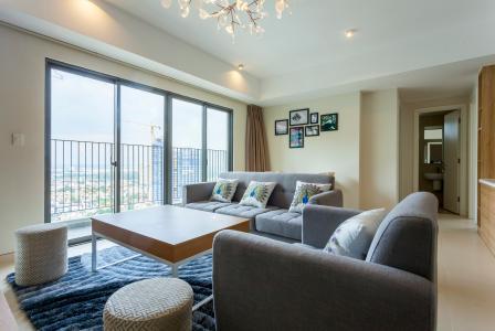 Căn hộ Masteri Thảo Điền tầng cao T5 full nội thất, 3 phòng ngủ, view toàn cảnh thành phố