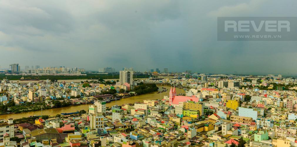 View Căn hộ M-One Nam Sài Gòn tầng cao, tháp T2, 2 phòng ngủ, view sông