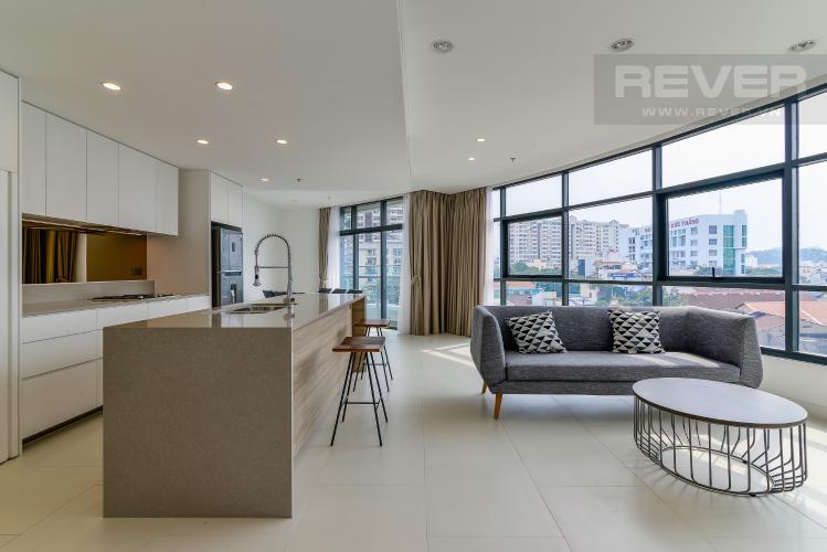 Phòng Khách Cho thuê căn hộ City Garden tầng thấp, 3PN đầy đủ nội thất, có thể dọn vào ở ngay