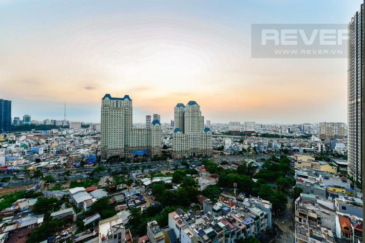 View Officetel Vinhomes Central Park 1 phòng ngủ tầng trung C3 hướng Tây