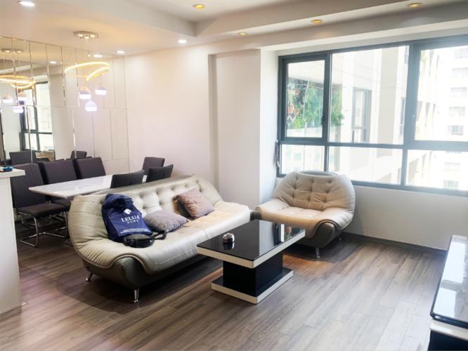 phòng khách The Gold View Căn hộ The Gold View đầy đủ nội thất tiện nghi, view thông thoáng.