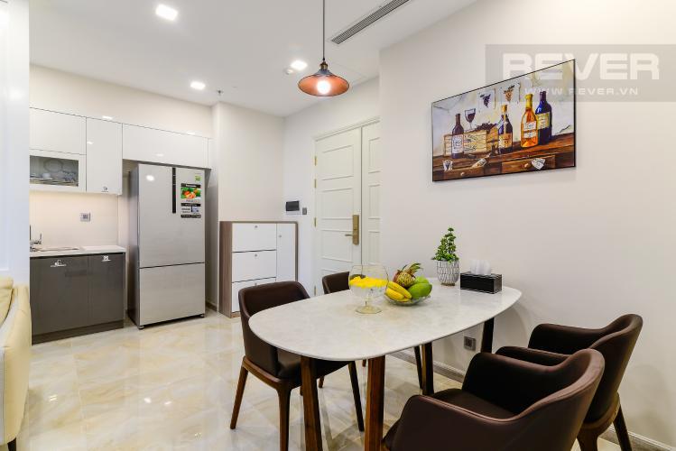 Phòng Ăn Cho thuê căn hộ Vinhomes Golden River 2PN đầy đủ nội thất, view sông Sài Gòn