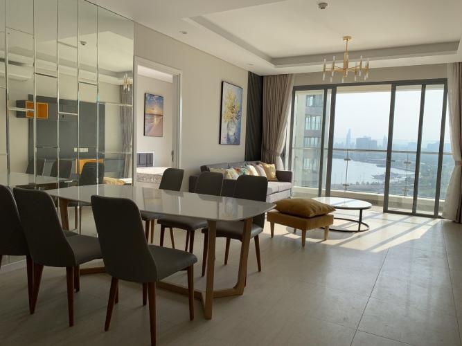 Phòng ăn Diamond Island Quận 2 Căn hộ Đảo Kim Cương đầy đủ nội thất, view thành phố.