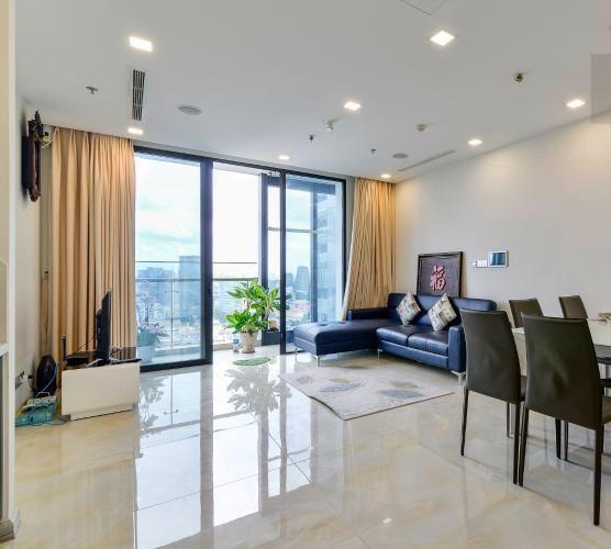 Bán căn hộ Vinhomes Golden River, diện tích 75m2 - 2 phòng ngủ, đầy đủ nội thất, ban công hướng Nam.