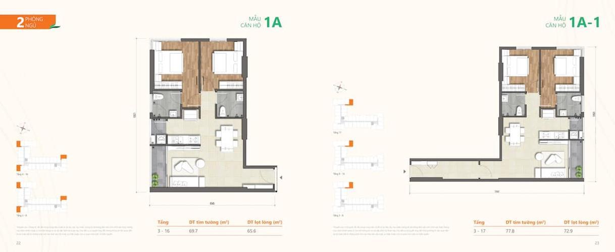 Mặt bằng căn hộ Ricca, Quận 9 Căn hộ Ricca tầng thấp nội thất cơ bản, view thoáng mát.