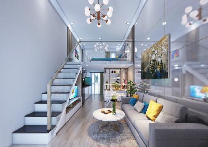 Bán căn hộ 9X Bình Tân 1PN, tầng 2, diện tích 33m2m, đầy đủ nội thất, hướng cửa Đông Nam