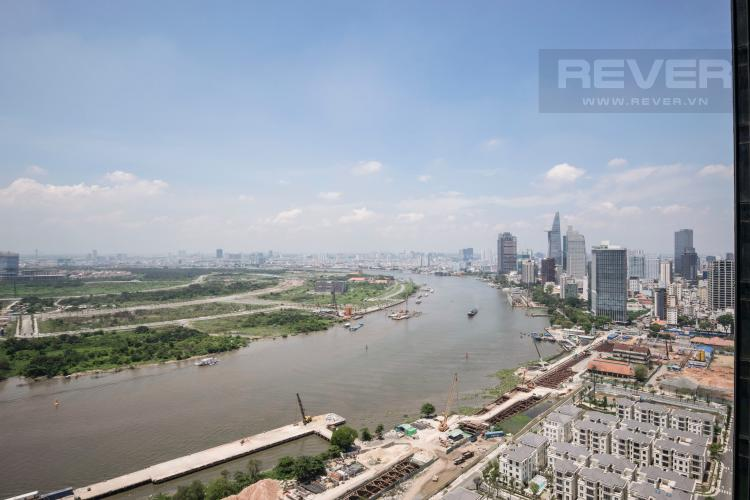 View Officetel Vinhomes Golden River 1 phòng ngủ tầng trung A2 view sông