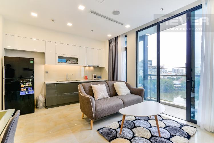 Phòng Khách Officetel Vinhomes Golden River tầng thấp, 2 phòng ngủ, full nội thất