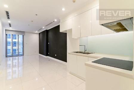 Cho thuê căn hộ Vinhomes Central Park 1PN, tầng trung, nội thất cơ bản, ban công Tây Nam