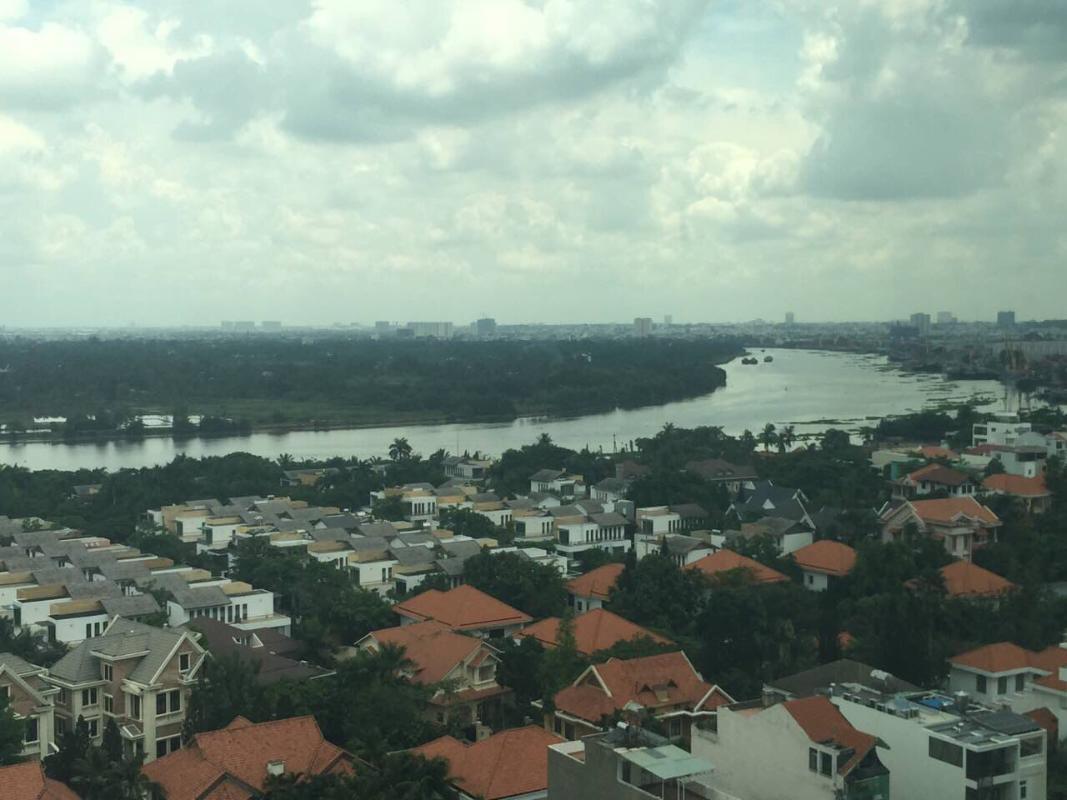 View sông Bán căn hộ The Vista An Phú 2PN, tháp T5, diện tích 101m2, đầy đủ nội thất, view sông Sài Gòn