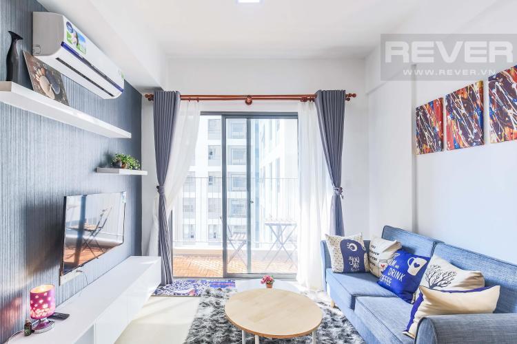 Không gian phòng khách thoáng đãng Cho thuê căn hộ Masteri Thảo Điền 2PN, tầng cao, tháp T2A, đầy đủ nội thất, hướng Tây Bắc