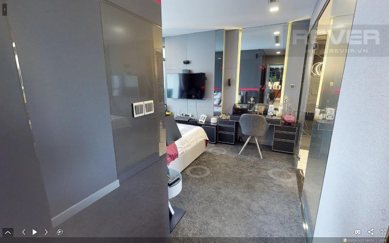 Phòng Ngủ Bán căn hộ Vinhomes Central Park tầng cao tháp Park 3, 3PN 2WC, đầy đủ nội thất, view sông Sài Gòn