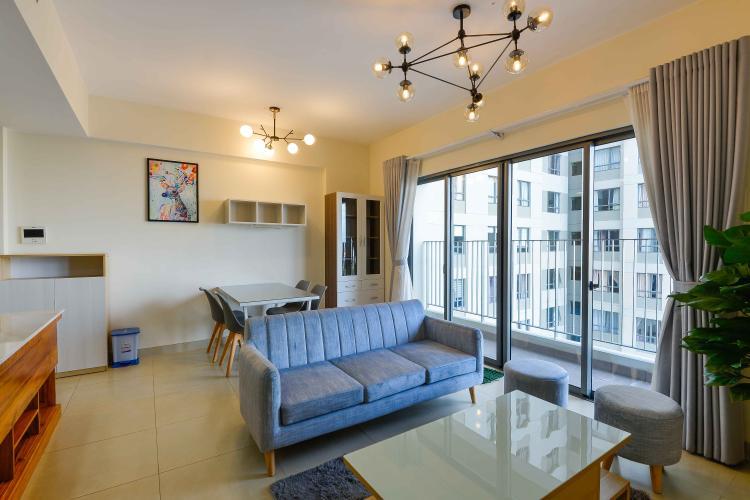Phòng Khách Cho thuê căn hộ Masteri Thảo Điền 2PN, tầng cao, tháp T4, đầy đủ nội thất